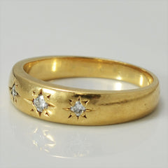 Victorian Era Diamond Band | 0.10 ctw, SZ 7.5 |
