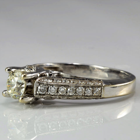 Intricate Cathedral Engagement Ring SZ 7.75