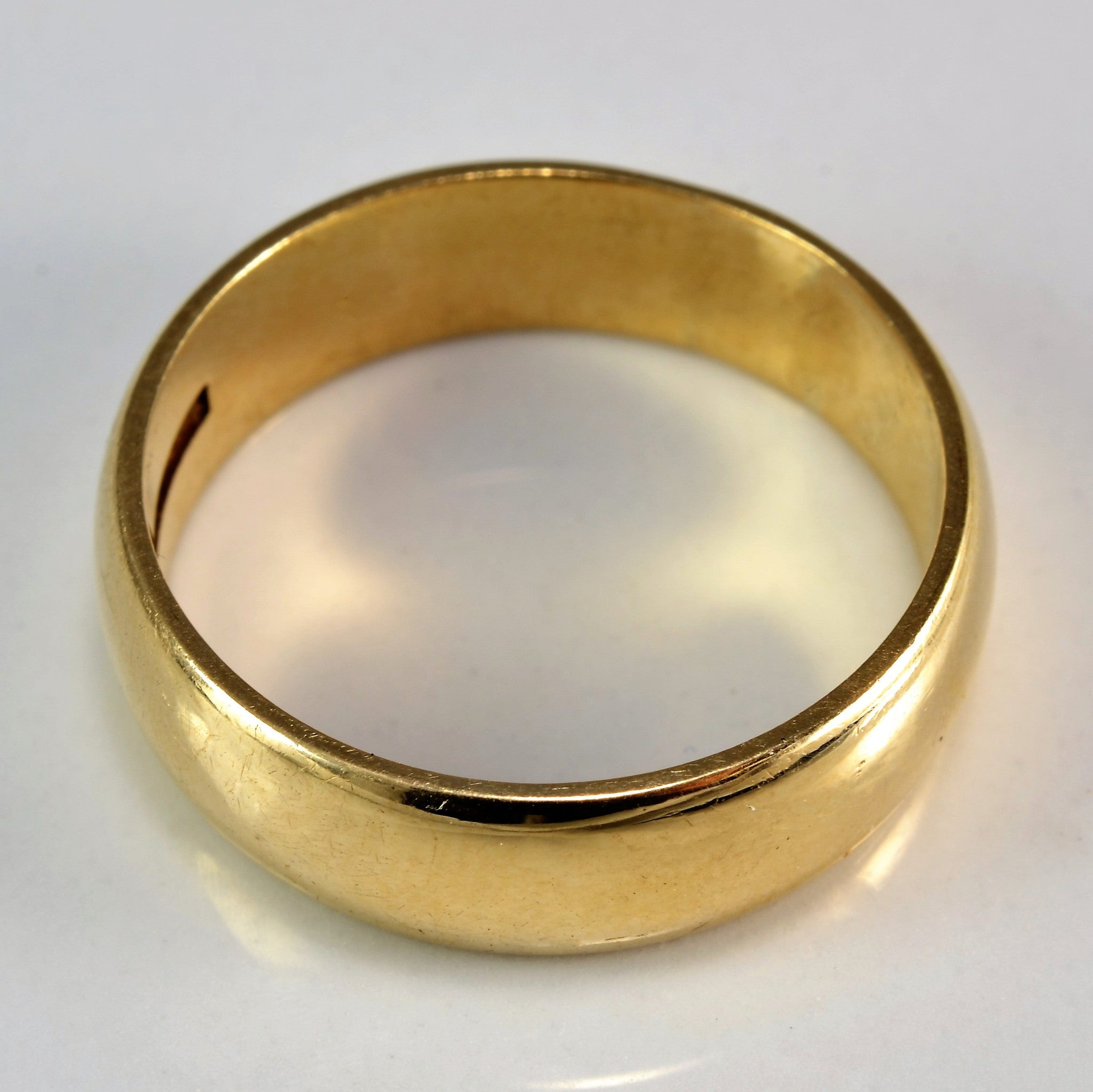 Vintage Wide Yellow Gold Wedding Band | SZ 8 |