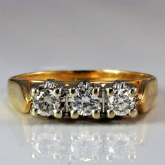 High Set Three Stone Diamond Ring | 0.30 ctw, SZ 6 |