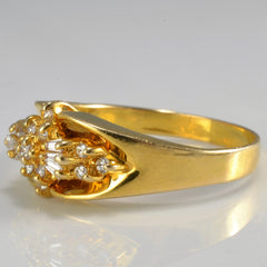 Tapered Cluster Diamond Ladies Ring | 0.20 ctw, 8.25 |