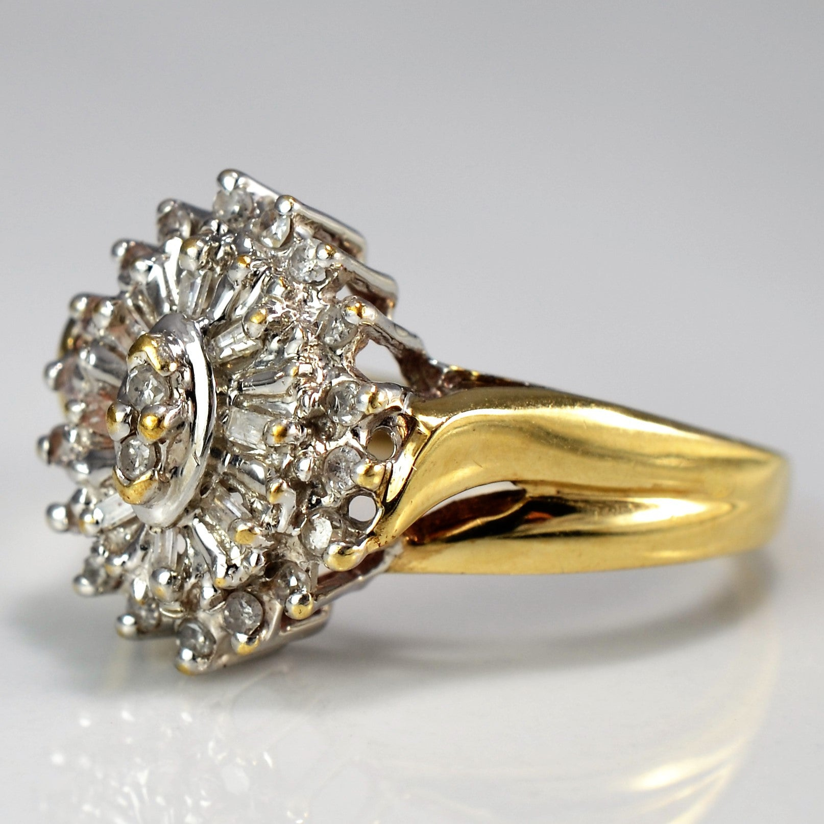 Marquise Cluster Diamond Cocktail Ring | 0.25 ctw, SZ 6.75 |