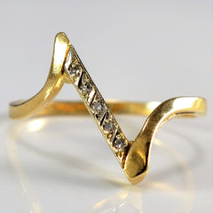 Diamond Chevron Ring | 0.04 ctw, SZ 6.75 |