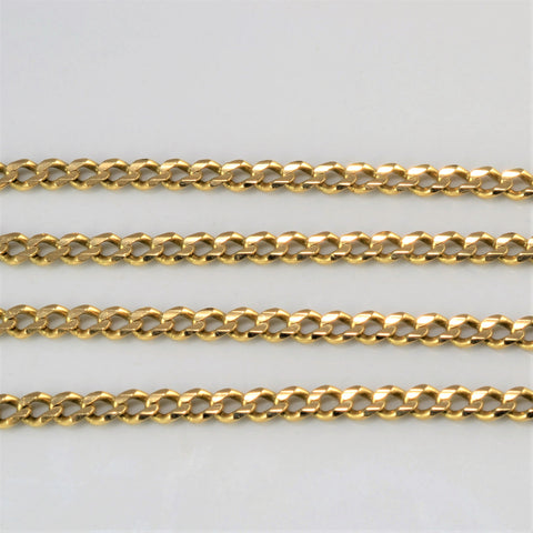 10K Yellow Gold Curb Link Chain | 23''|