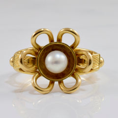 Pearl Floral Ring | SZ 6.5 |