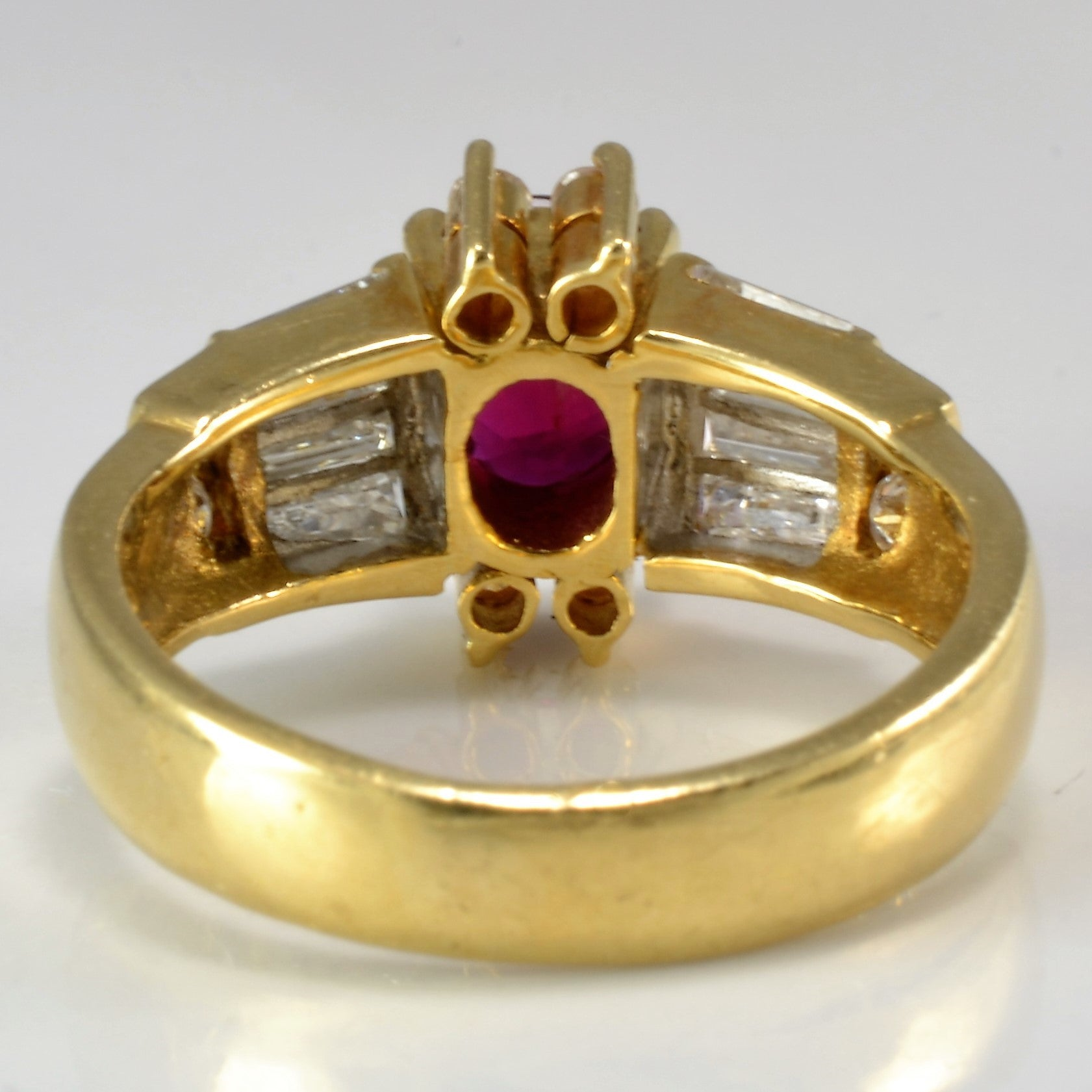 Stunning Custom Ruby & Diamond Ring | 0.60 ctw, SZ 5.25 |