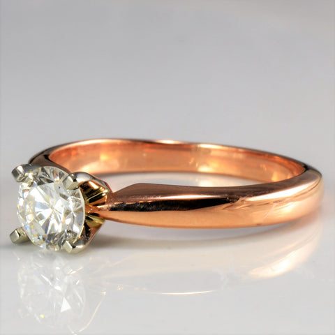 14K Rose Gold Solitaire Diamond Ring | 0.50 ct, SZ 6 |