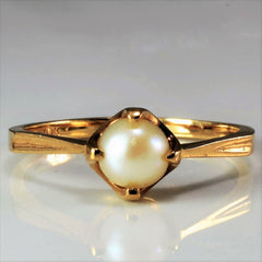 Pearl Solitaire Ring | SZ 7.5 |