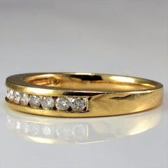 Classic Diamond Channel Wedding Band | 0.20 ctw, SZ 6.75 |