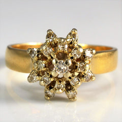 Star Burst Cluster Diamond Ring | 0.21 ctw, SZ 6.75 |