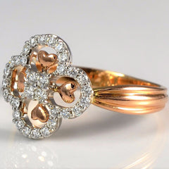 Rose Gold Hearts Pave Promise Ring | 0.20 ctw, SZ 5.25 |
