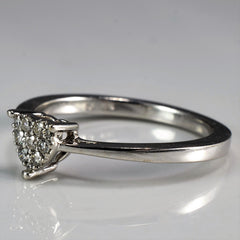 Diamond Pave Heart Promise Ring | 0.10 ctw, SZ 6.25 |