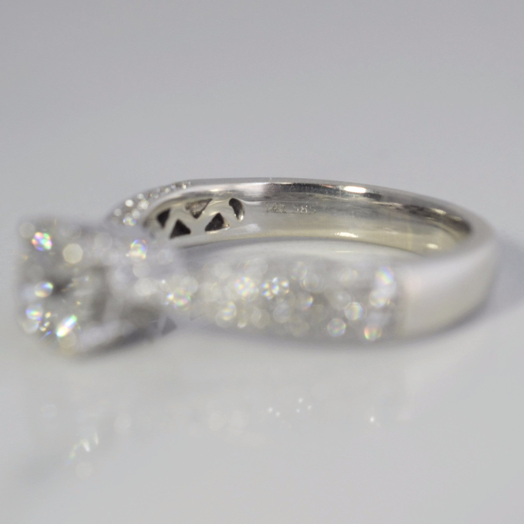 Twisted Pave Engagement Ring | 1.74 ctw, SZ 7.75 |