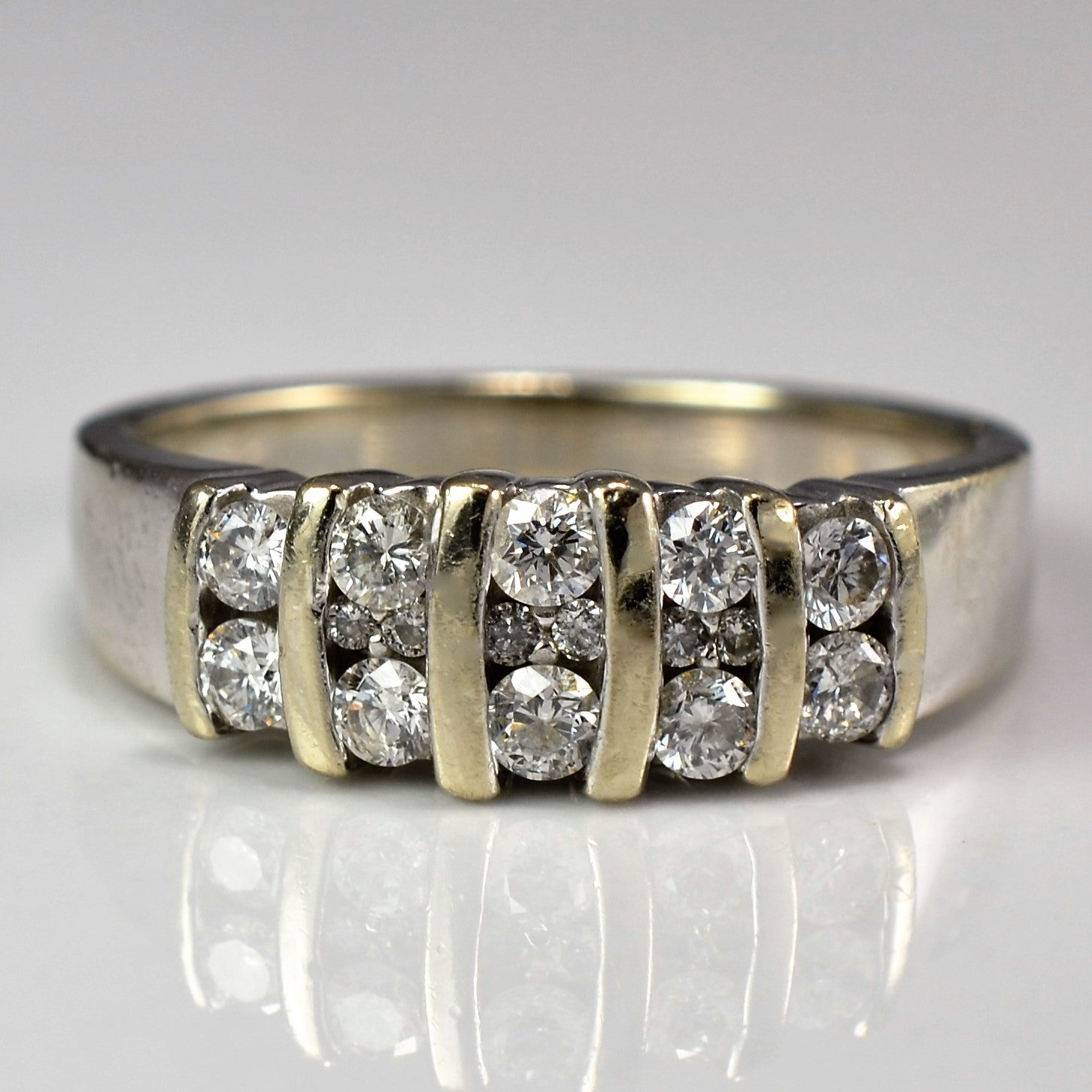 Diamond Multi Channel Band | 0.45 ctw, SZ 6.75 |