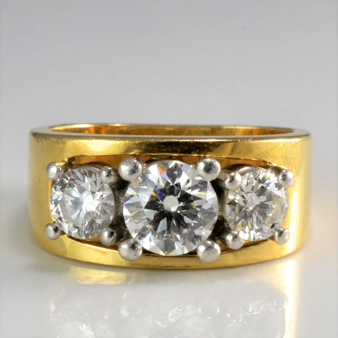 """Birks Cavelti"" Three Stone Diamond Ring 