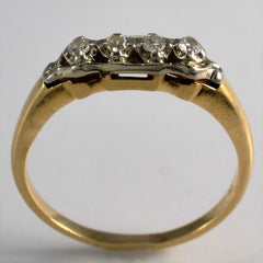 Vintage Retro Era Diamond Wedding Band | 0.13 ctw, SZ 7.25 |