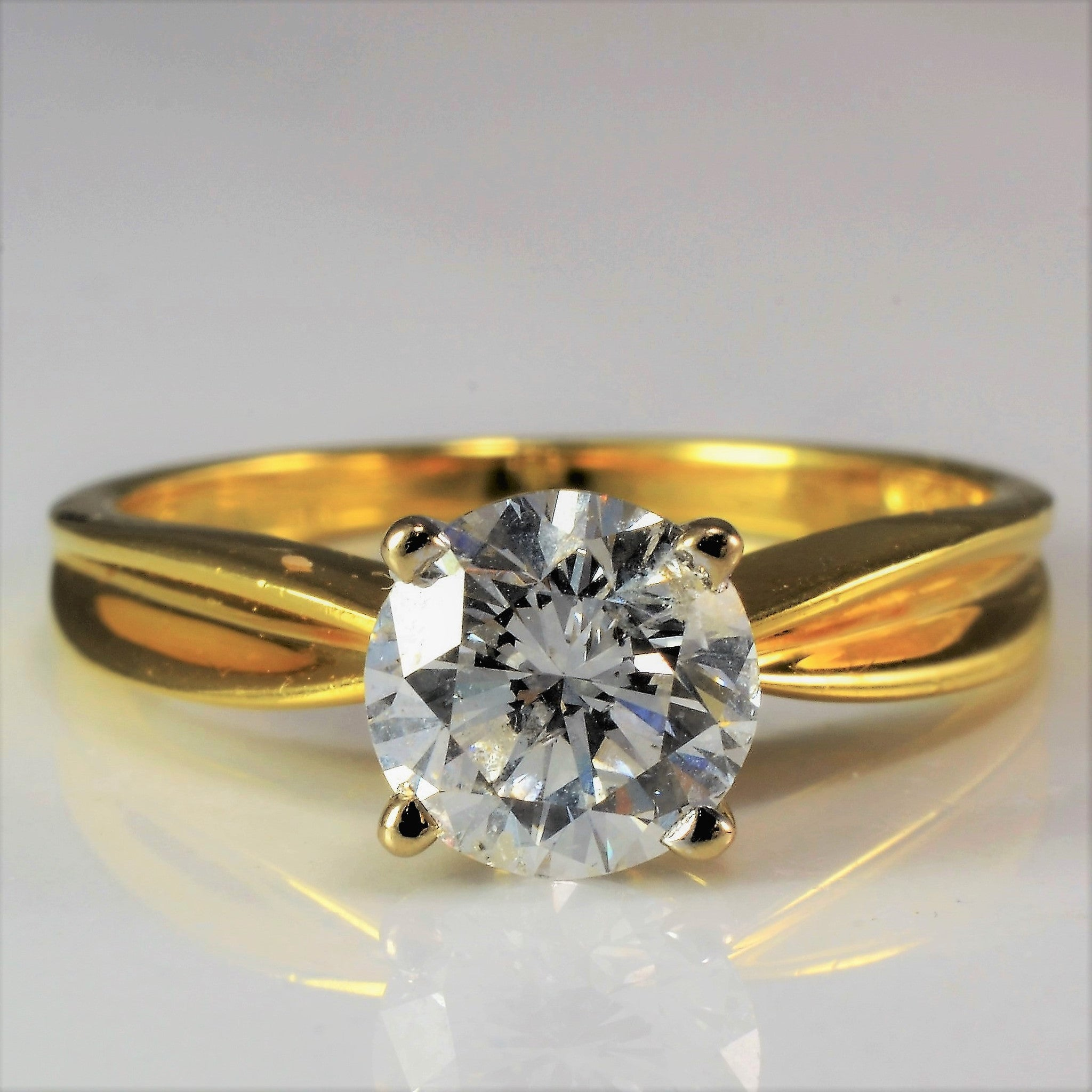 Round Brilliant Solitaire Engagement Ring | 1.03 ct, SZ 5.25 |