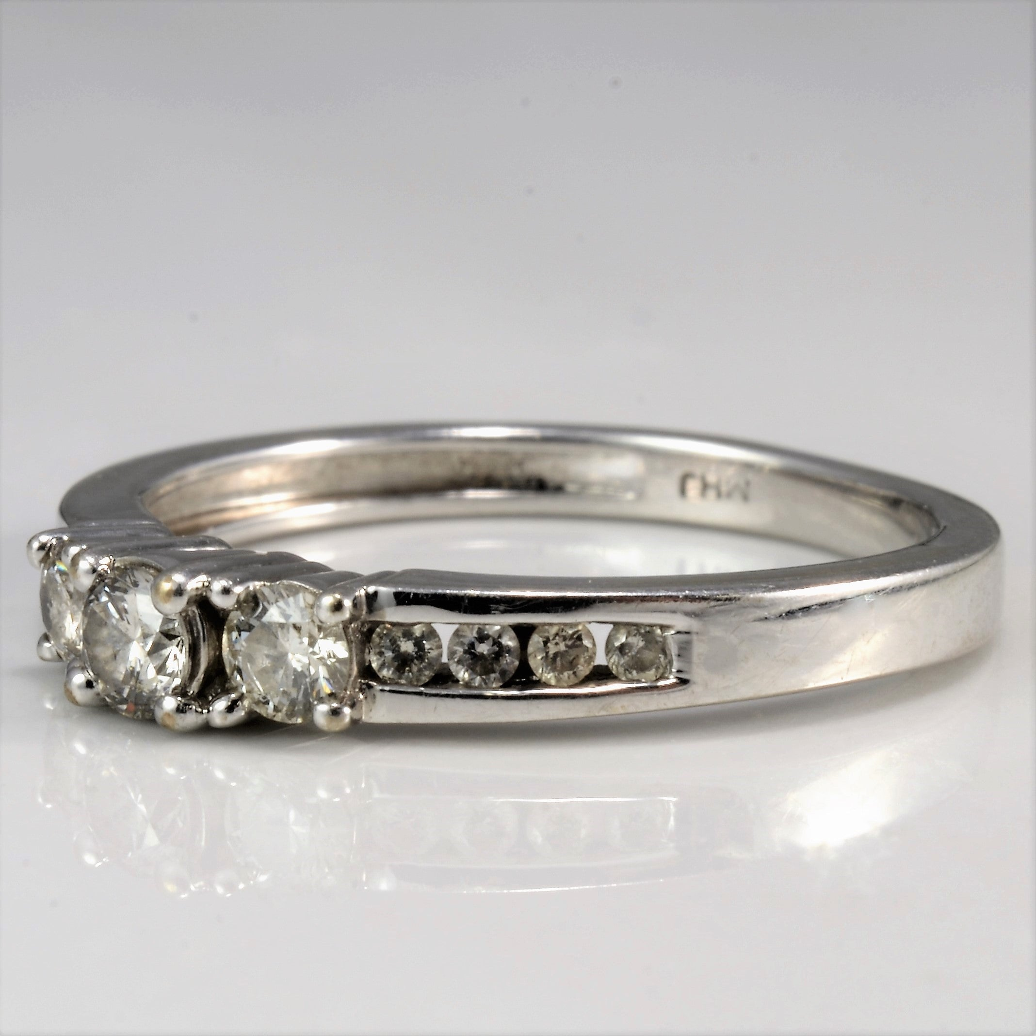 Three Stone Diamond Engagement Ring | 0.34 ctw, SZ 6.25 |