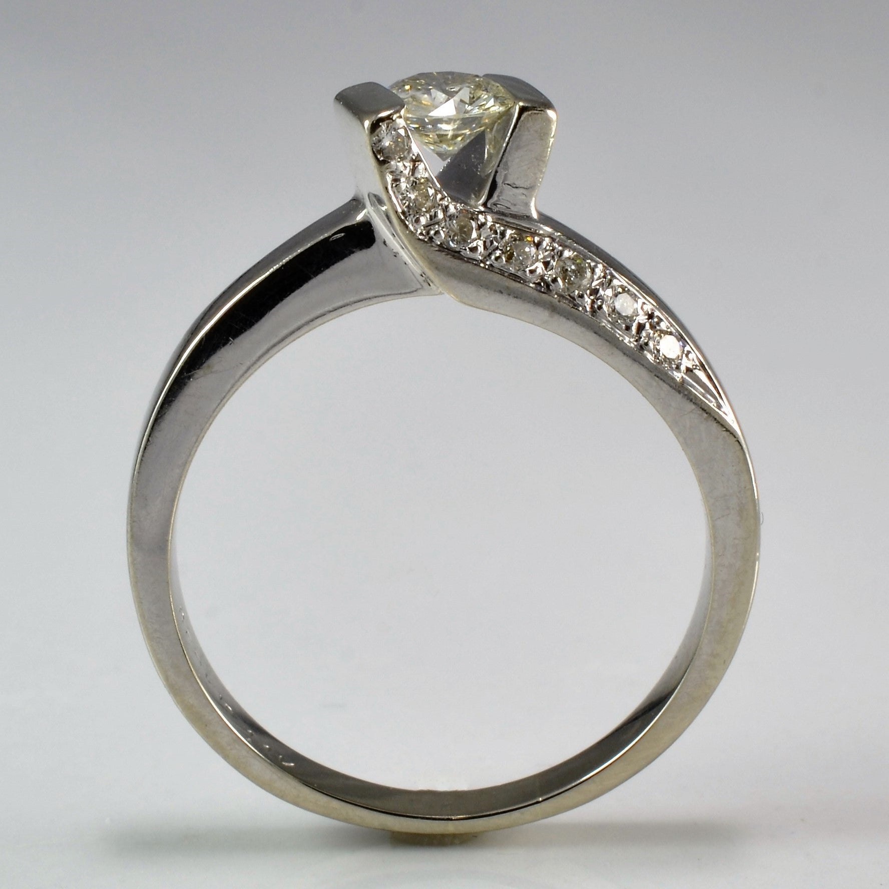 Twisted Bypass Engagement Ring | 0.50 ctw, SZ 7.25 |