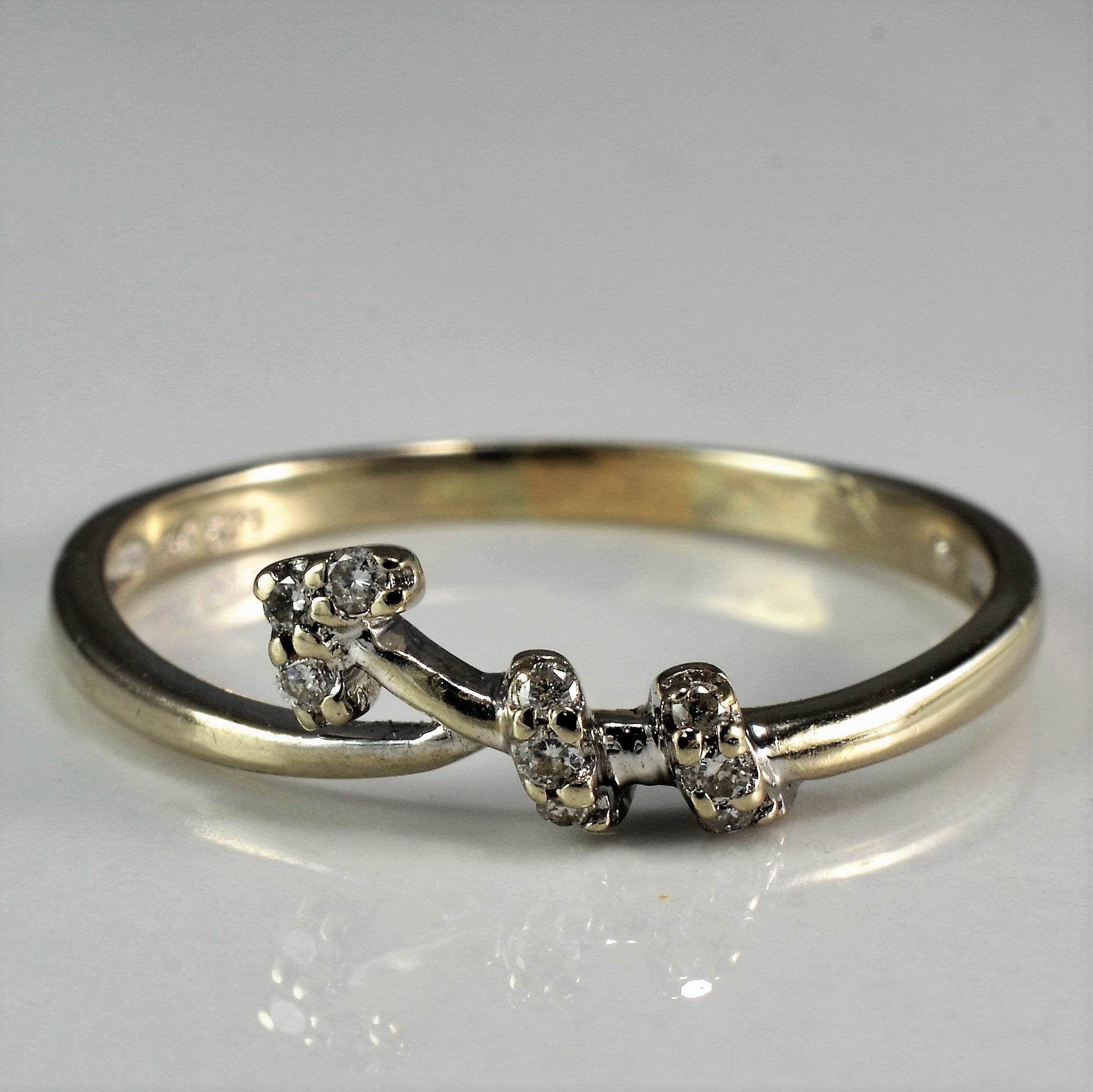 Petite Diamond Arrow Ring | 0.05 ctw, SZ 8.25 |