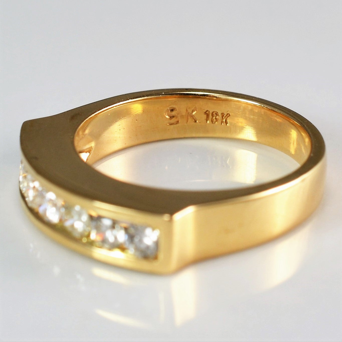 Custom Diamond Channel Band | 0.35 ctw, SZ 5 |