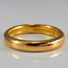 Vintage 22K Yellow Gold Wedding Band | SZ 5.5 |