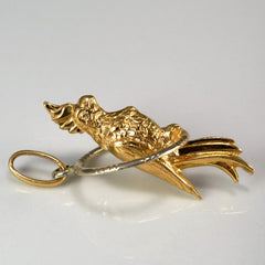 Perched Parrot Gold Pendant