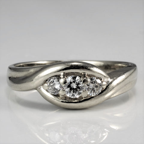 Bypass Three Stone Diamond Ring | 0.22 ctw, SZ 7.25 |