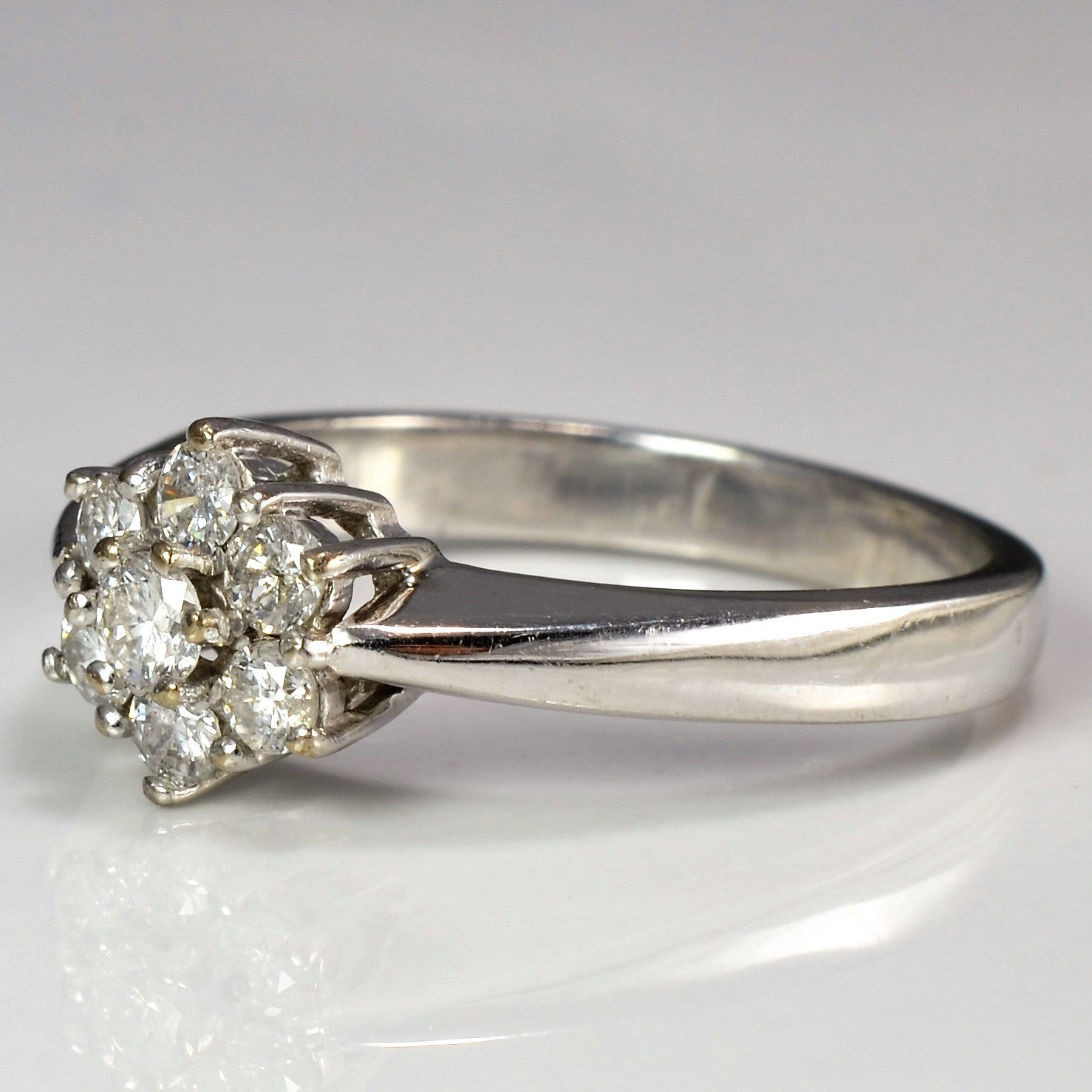 Tapered Floral Diamond Ring | 0.50 ctw, SZ 8.5 |