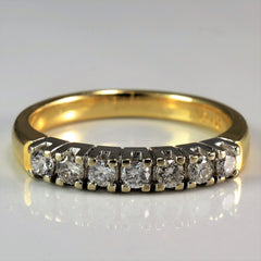 Prong Set Diamond Wedding Band | 0.25 ctw, SZ 6 |