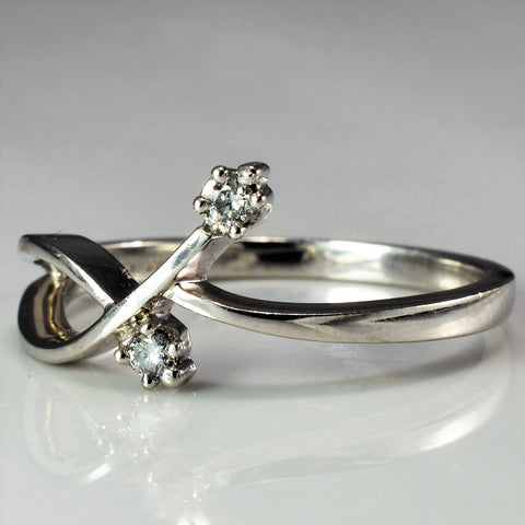 Abstract Bypass Diamond Ring | 0.05 ctw, SZ 6 |