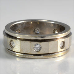 Wide Gypsy Set Diamond Band | 0.24 ctw, SZ 4 |