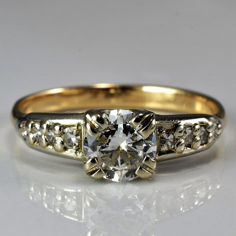 Gorgeous Retro Era Engagement Ring | 0.57 ctw, SZ 5.5 |