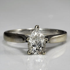 Tapered Pear Cut Engagement Ring | 0.52 ct, SZ 3.25 |
