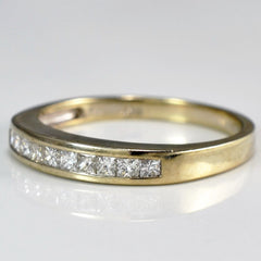 Channel Set Princess Cut Diamond Band | 0.25 ctw, SZ 5.75 |