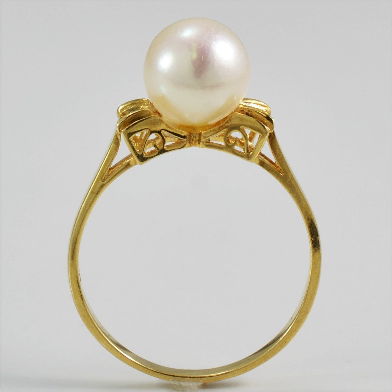 Pearl & Diamond Filigree Detailed Ring | 0.02 ctw, SZ 6.25 |