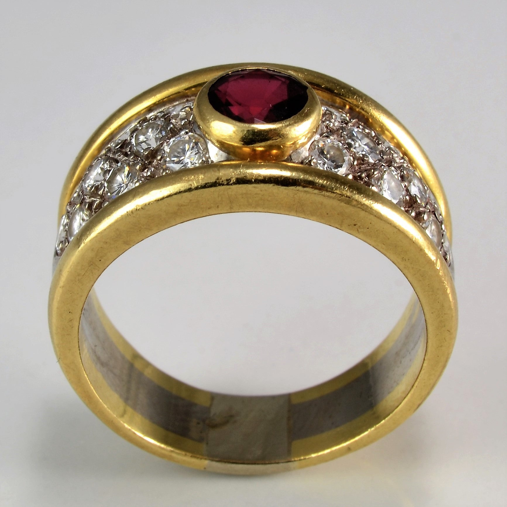 Custom Diamond & Ruby Ring | 0.75 ctw, SZ 7.5 |