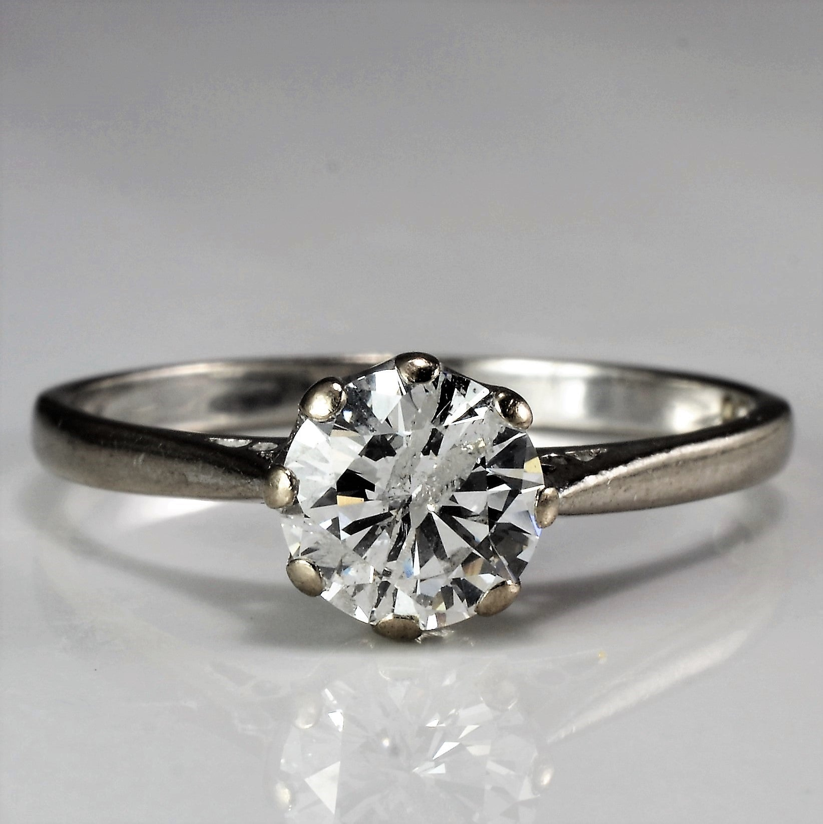 Eight Prong Solitaire Engagement Ring | 1.00 ct, SZ 9.25 |