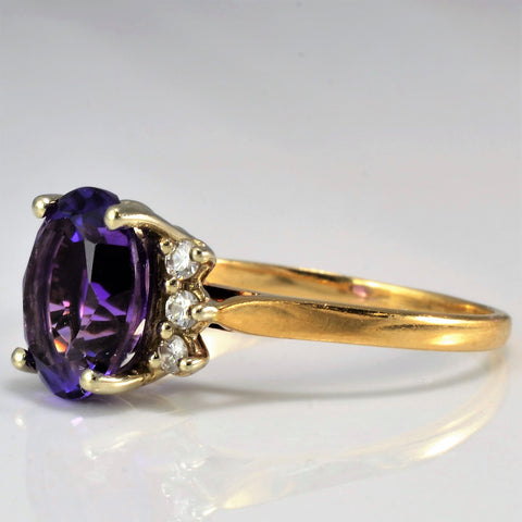 Birks Amethyst & Diamond Ring | 0.12 ctw, SZ 7.5 |