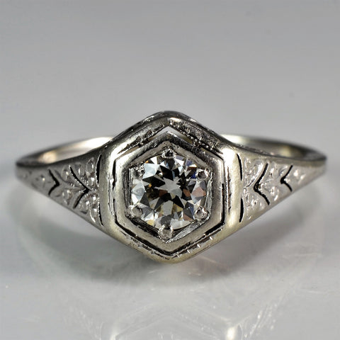 Stunning Art Deco Era Engagement Ring | 0.25 ct, SZ 5 |