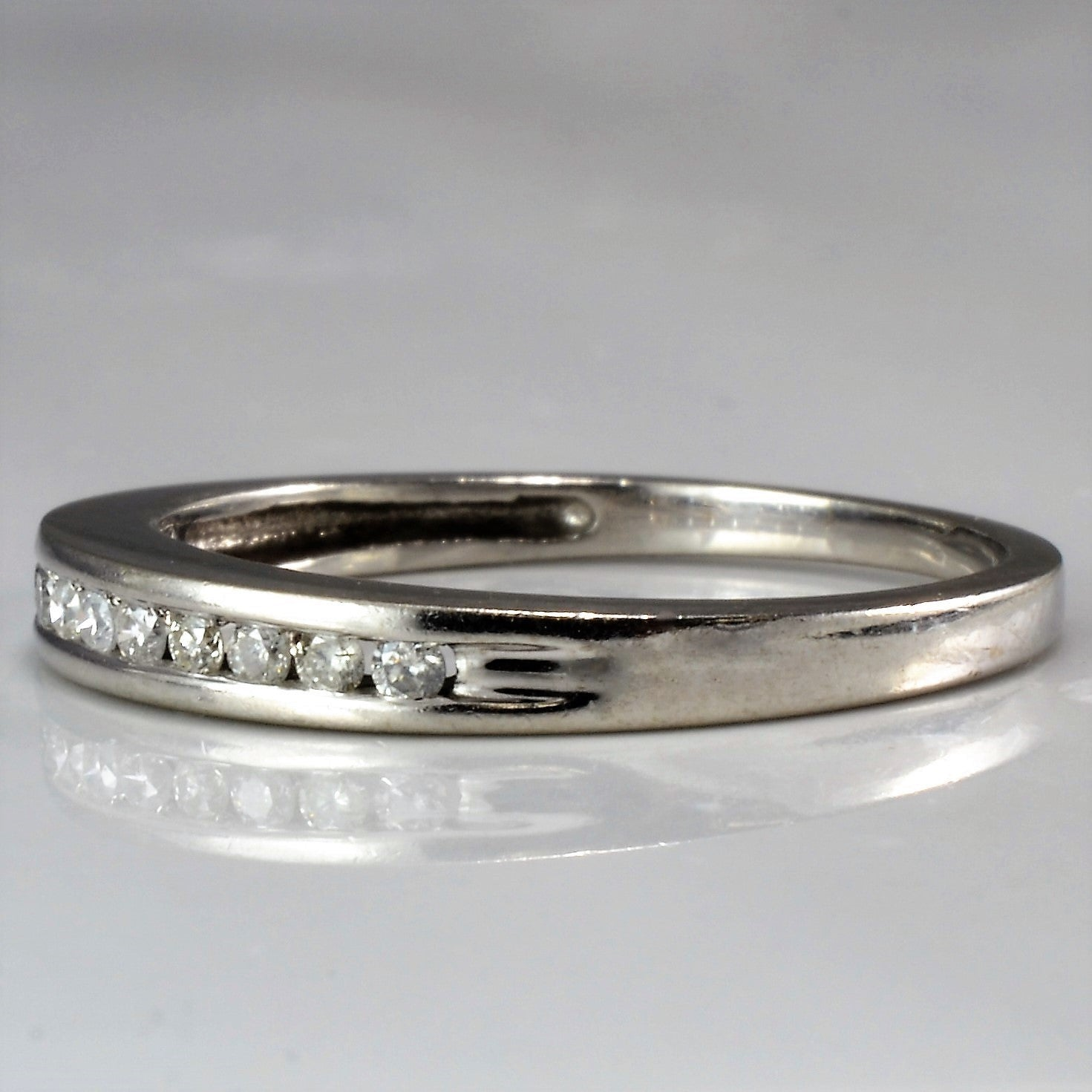 Classic White Gold Diamond Wedding Band | 0.05 ctw, SZ 6 |