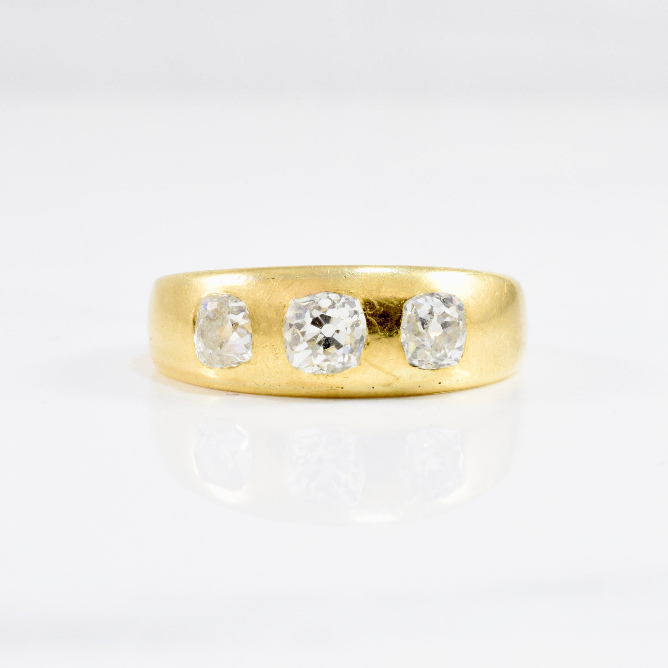 Victorian Era Three Stone Diamond Band | 0.79 ctw SZ 7 |