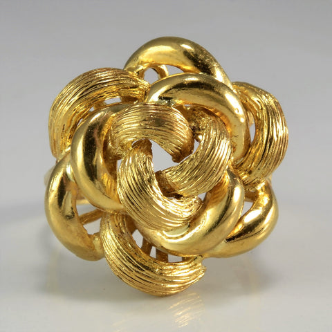 Brushed Spiral Knot Cocktail Ring | SZ 8.5 |