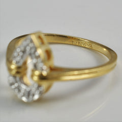 Pear Shaped Diamond Ring | 0.03 ctw, SZ 5.75 |
