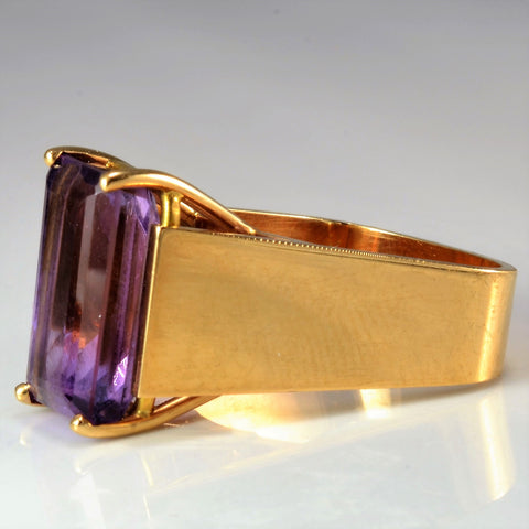 Bold Rectangular Amethyst Ring | SZ 4.25 |