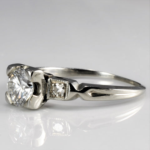 Elegant Art Deco Era Engagement Ring | 0.67 ctw, SZ 5 |