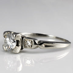 Vintage Three Stone Diamond Engagement Ring | 0.67 ctw, SZ 5 |