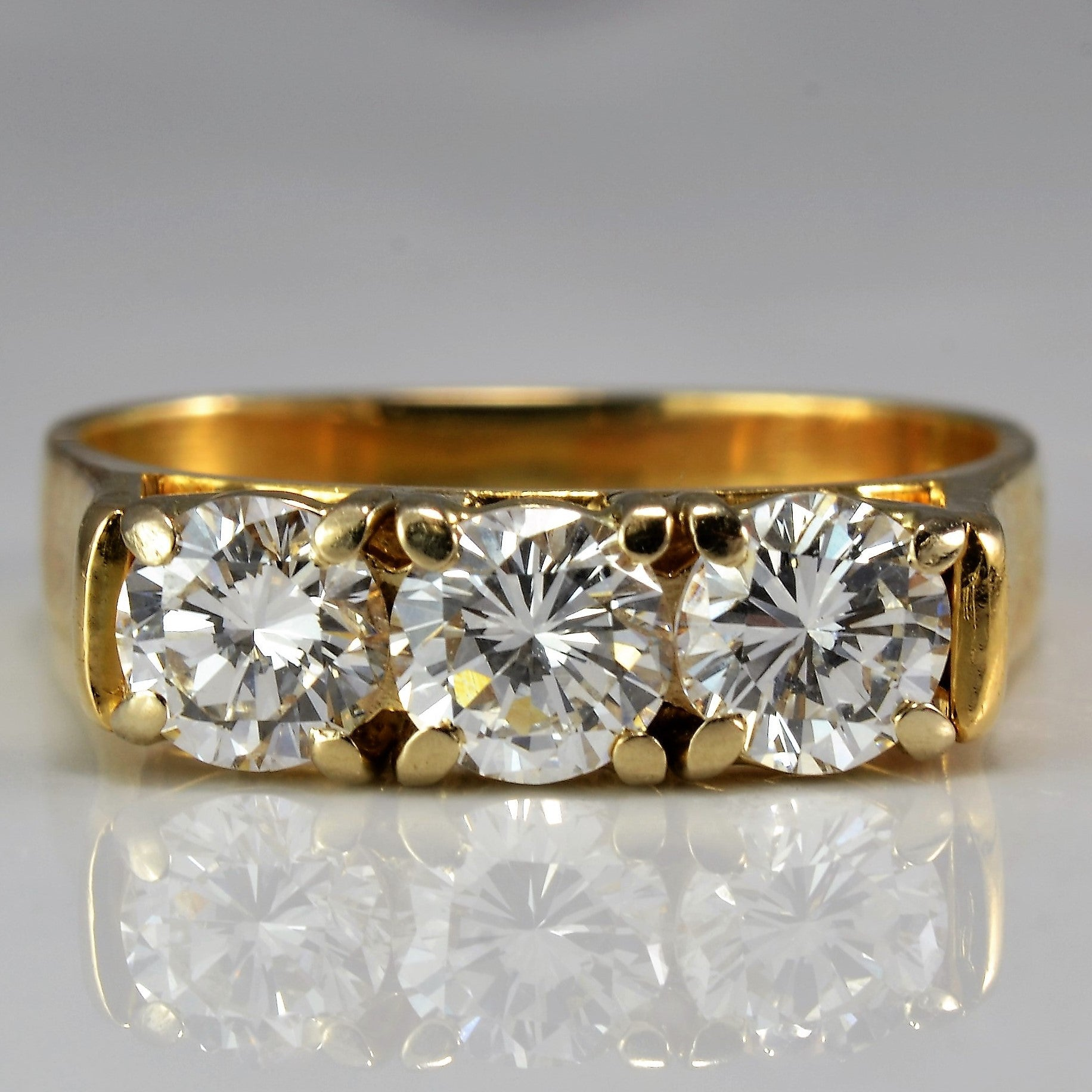 Magnificent Three Stone Diamond Ring | 1.00 ctw, SZ 5 |