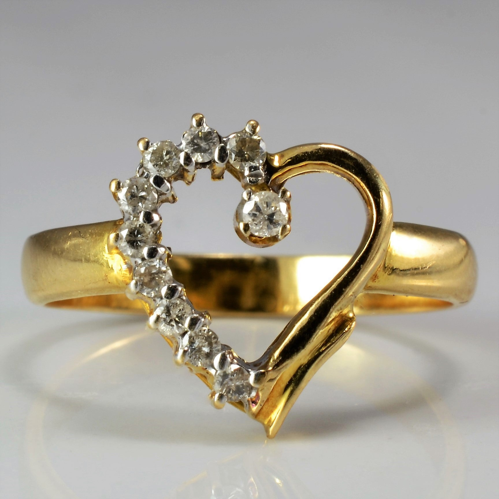 Diamond Heart Ring | 0.20 ctw, SZ 6.5 |
