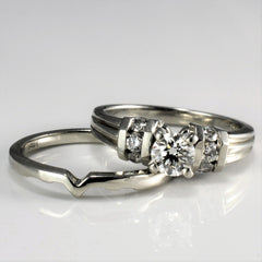 Channel Accented Engagement Ring & Wedding Band  | 0.68 ctw, SZ 6.5 |